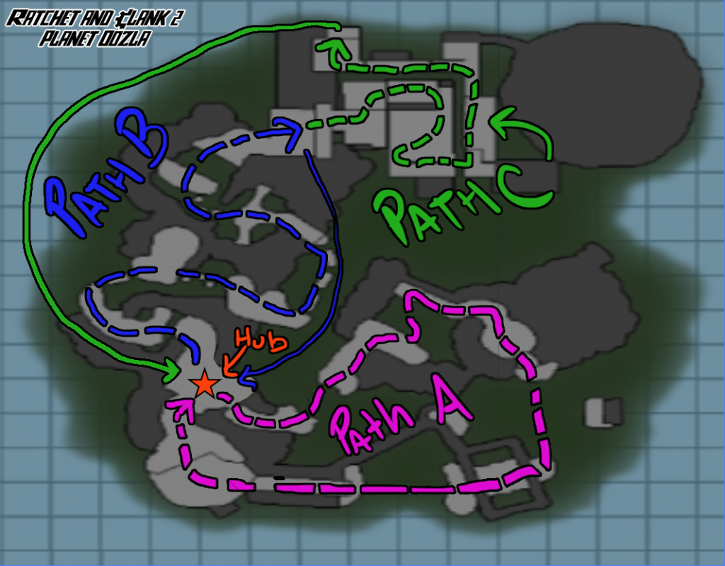 Ratchet and Clank 2 - Oozla Level Map