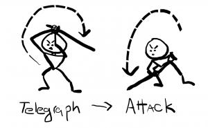 telegraph+attack animation