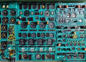 Airplane control panel