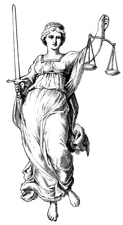 Lady justice, with scales